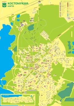 Карта Костомукши